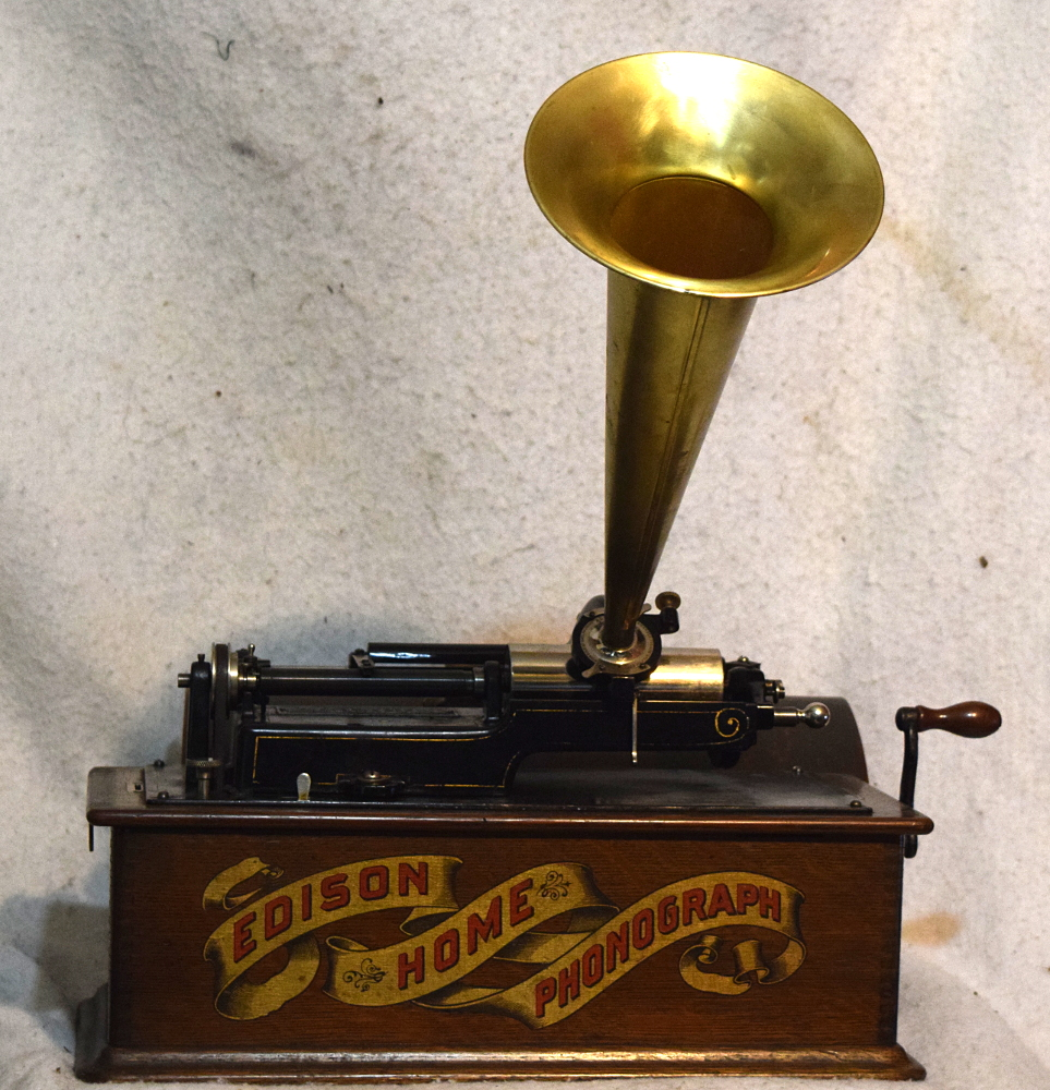 Edison Model A Home Phonograph Red Banner