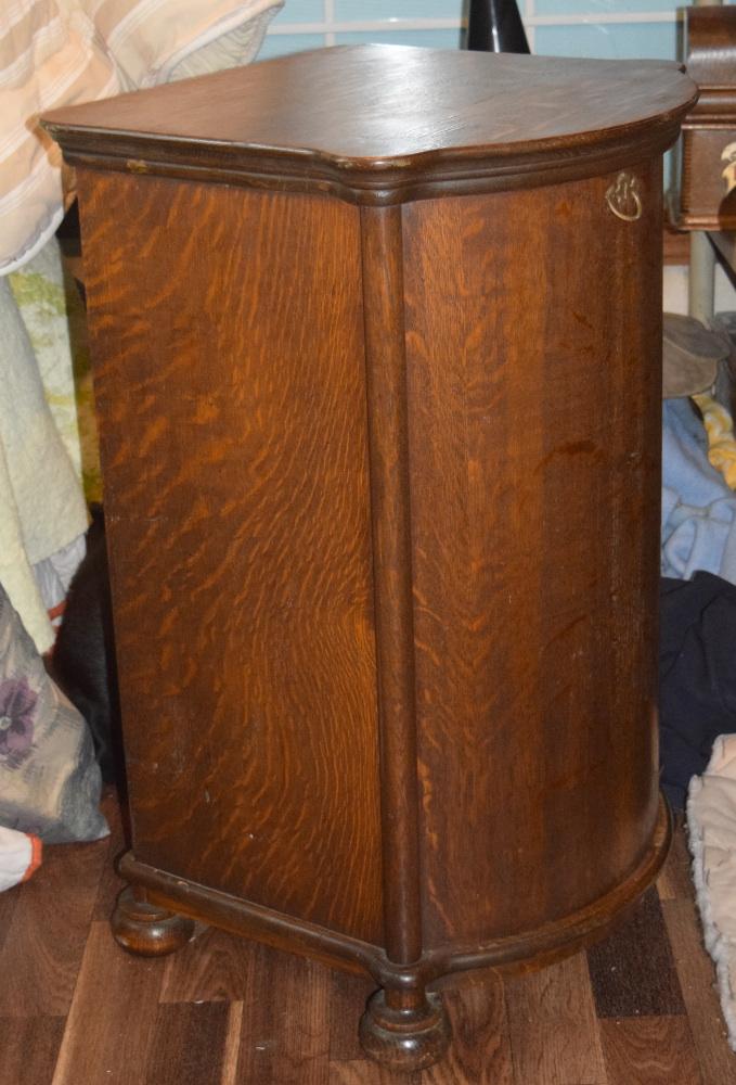 Half Barrel Cylinder Record Cabinet For Sale