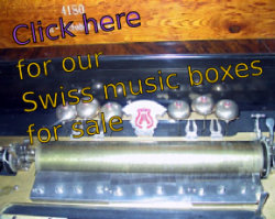 Our Swiss music boxes for sale
