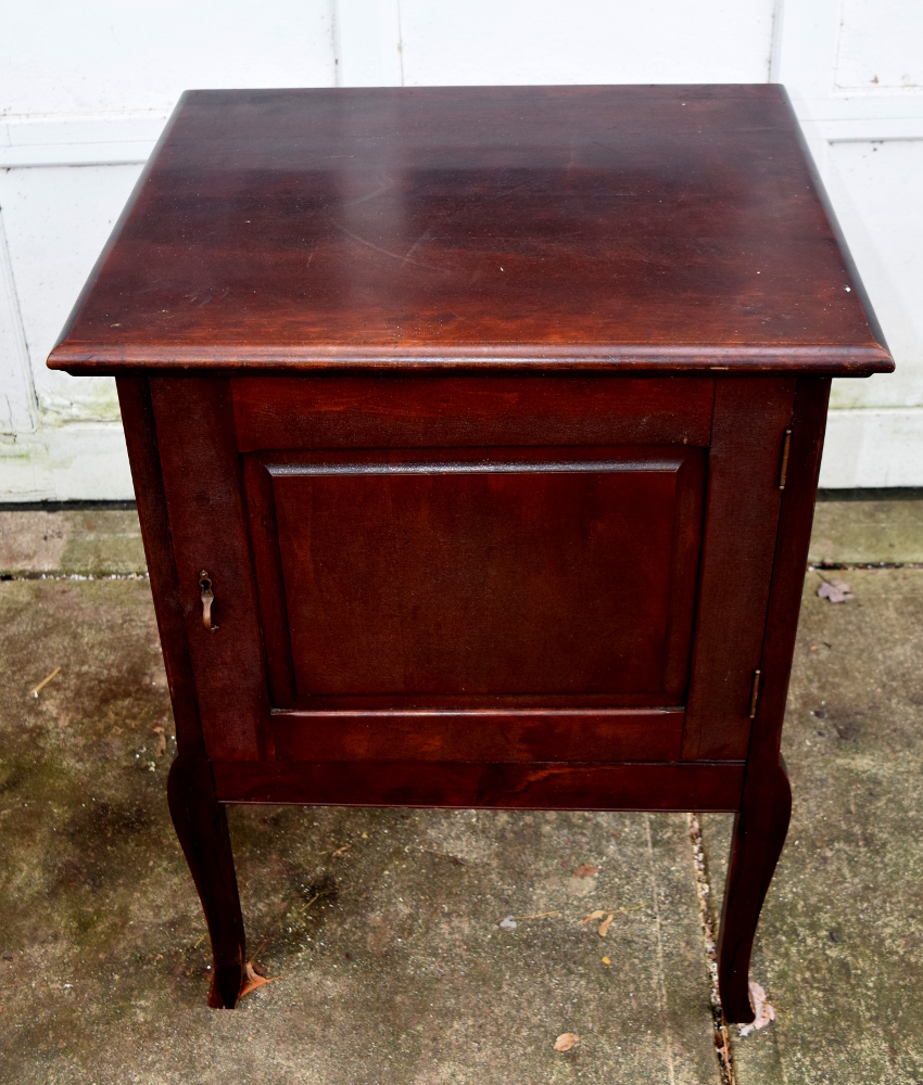 Antique music box base cabinet