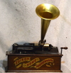 an image of Edison Model A Home Phonograph - Red Banner