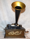 an image of Edison Standard Phonograph, Green Oak and Banner