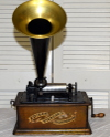 an image of Edison Standard Phonograph with original green oak finish