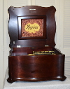 an image of 15.5 inch Regina music box - short bedplate - mahogany