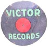 an image of Victor records porcelain advertising sign