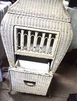 a second thumbnail of Bombe wicker Victrola cabinet