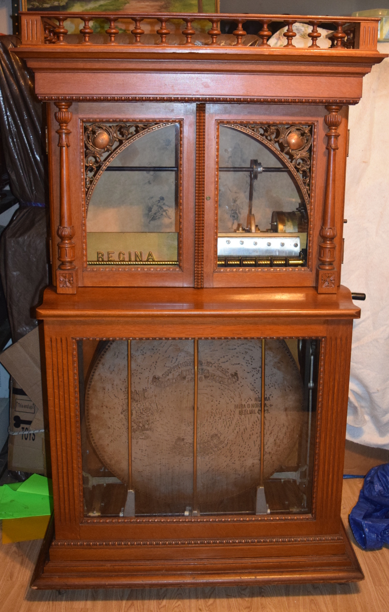 27 inch Regina music box automatic changer for sale