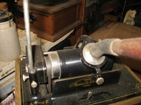 Edison Fireside Phonograph, Model A, gearing