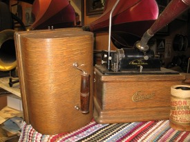Edison Fireside Phonograph with lid