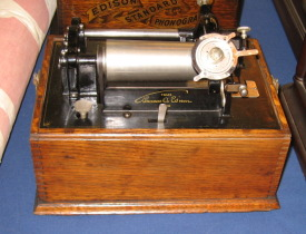 Edison Standard Phonograph, Model A two clip